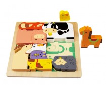 Chunky Wooden Puzzle - Farm Animals