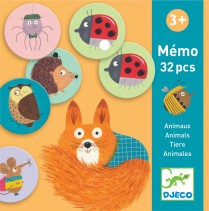 Djeco Memo 32 pcs Animals
