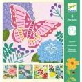 Djeco butterfly stencil kit