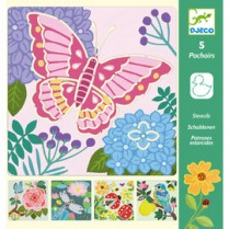 Djeco butterfly stencil kit