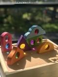 Bauspiel Colourful Fairy window block set of 6