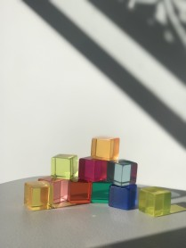 Bauspiel  lucite  colour cube set 10