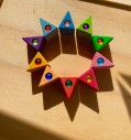 Bauspiel gem triangles set of 10