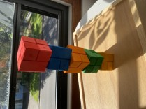 Bauspiel Colourful wooden corner blocks