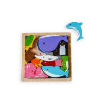 Chunky Wooden Puzzle - Sea Creatures