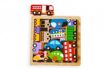 Chunky Wooden Puzzle - Vehicles