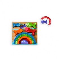Chunky Fish & Rainbow Wooden Puzzle