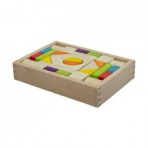 30pc Wooden Block Tray