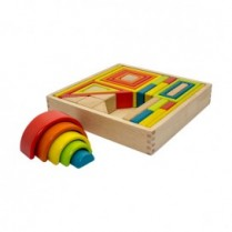 33pc Wooden Shape Set