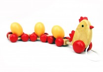 Pull-a-long Chicken with Eggs