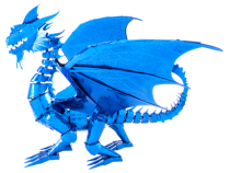 Metal Earth Blue Dragon model kit