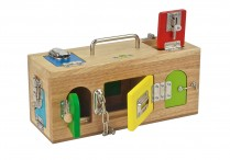 Montessori Wooden Locks Box