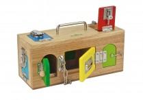Montessori Wooden Locks Box
