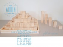 PRE ORDER 100 NATURAL WOODEN BLOCKS LSP