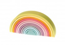 Grimms Wooden Pastel Rainbow Large