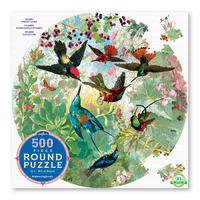 Hummingbirds round puzzle