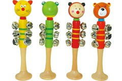 Wooden Animal bell stick