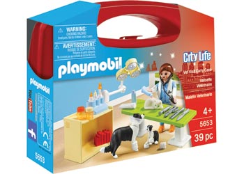 Playmobil City Life Vet Visit Carry Case