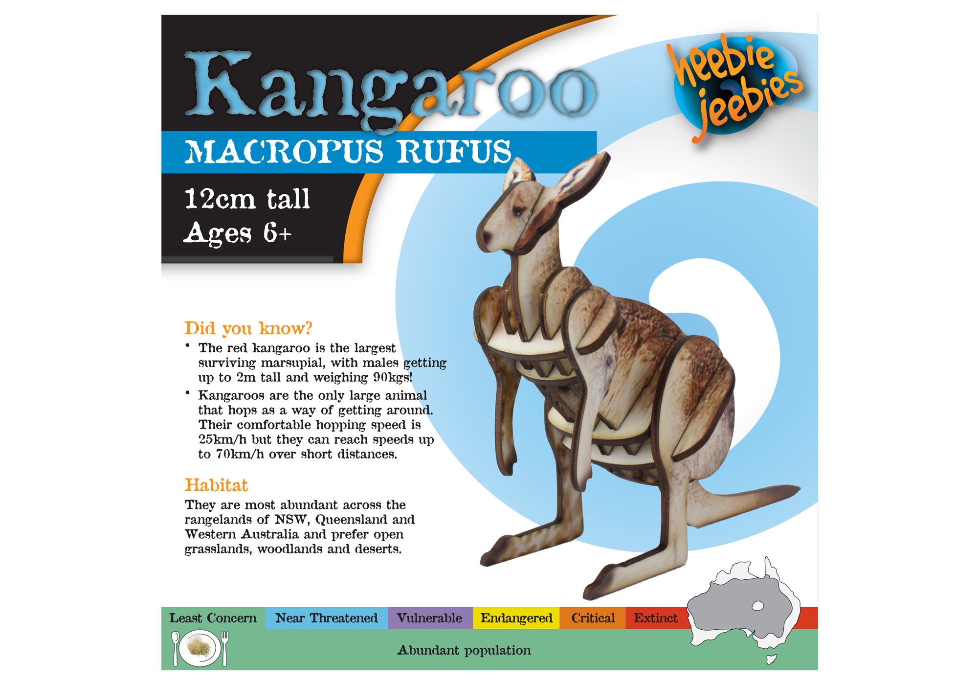 Kangaroo Aussie Animal Woodkit