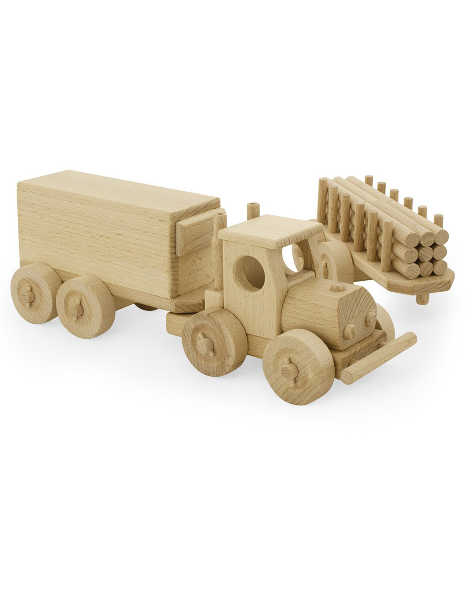 Wooden Truck and Trailer Set - Rory