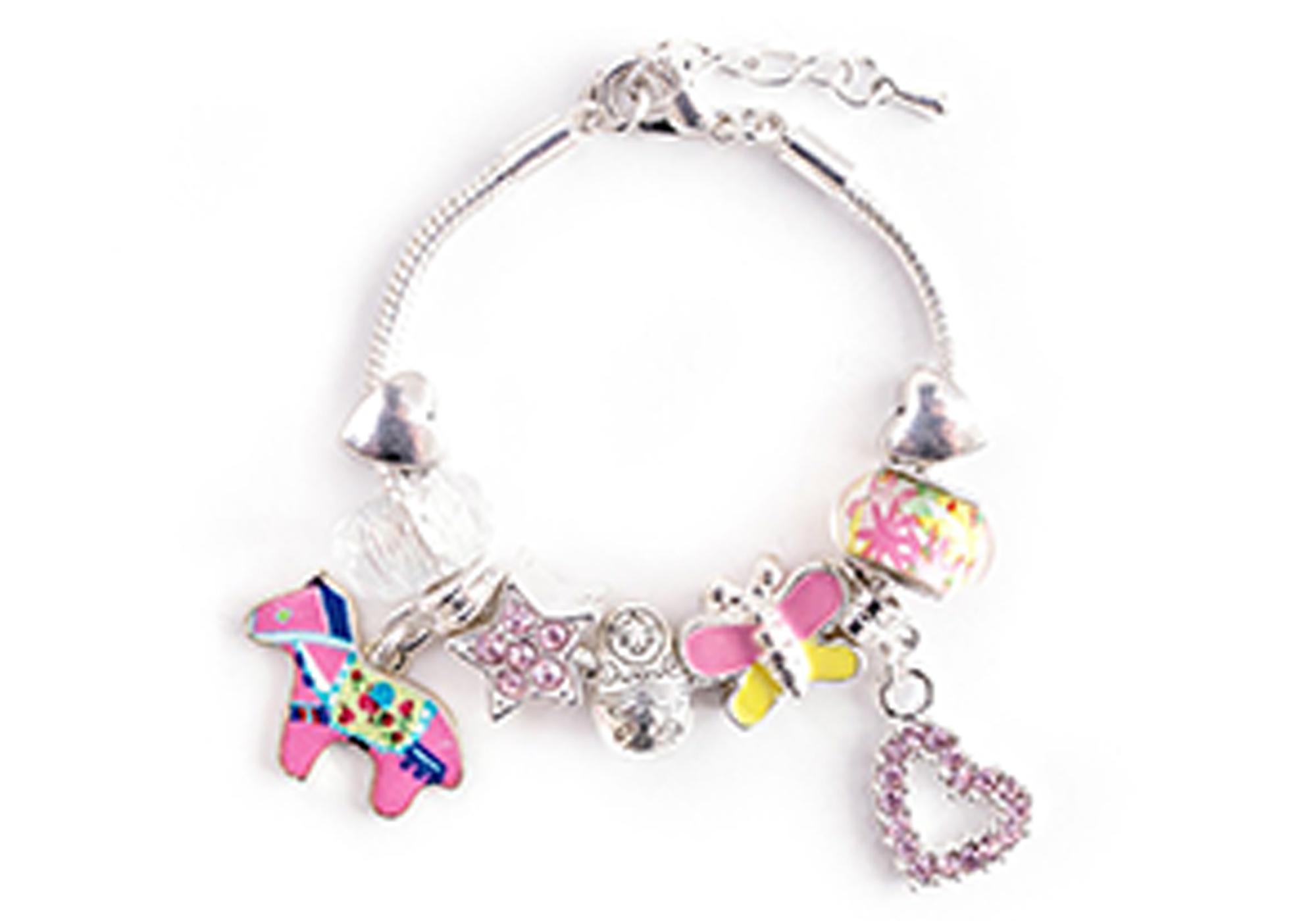 pink horse charm bracelet goldfish toyshop