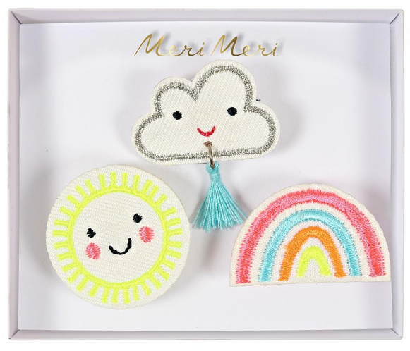 Meri Meri Weather Faces Brooches