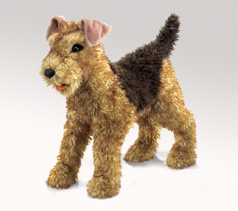 Dog Terrier Airedale Puppet