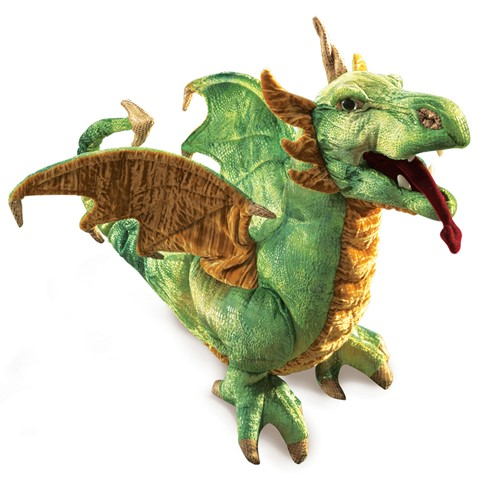 Green Wyvern Dragon Puppet