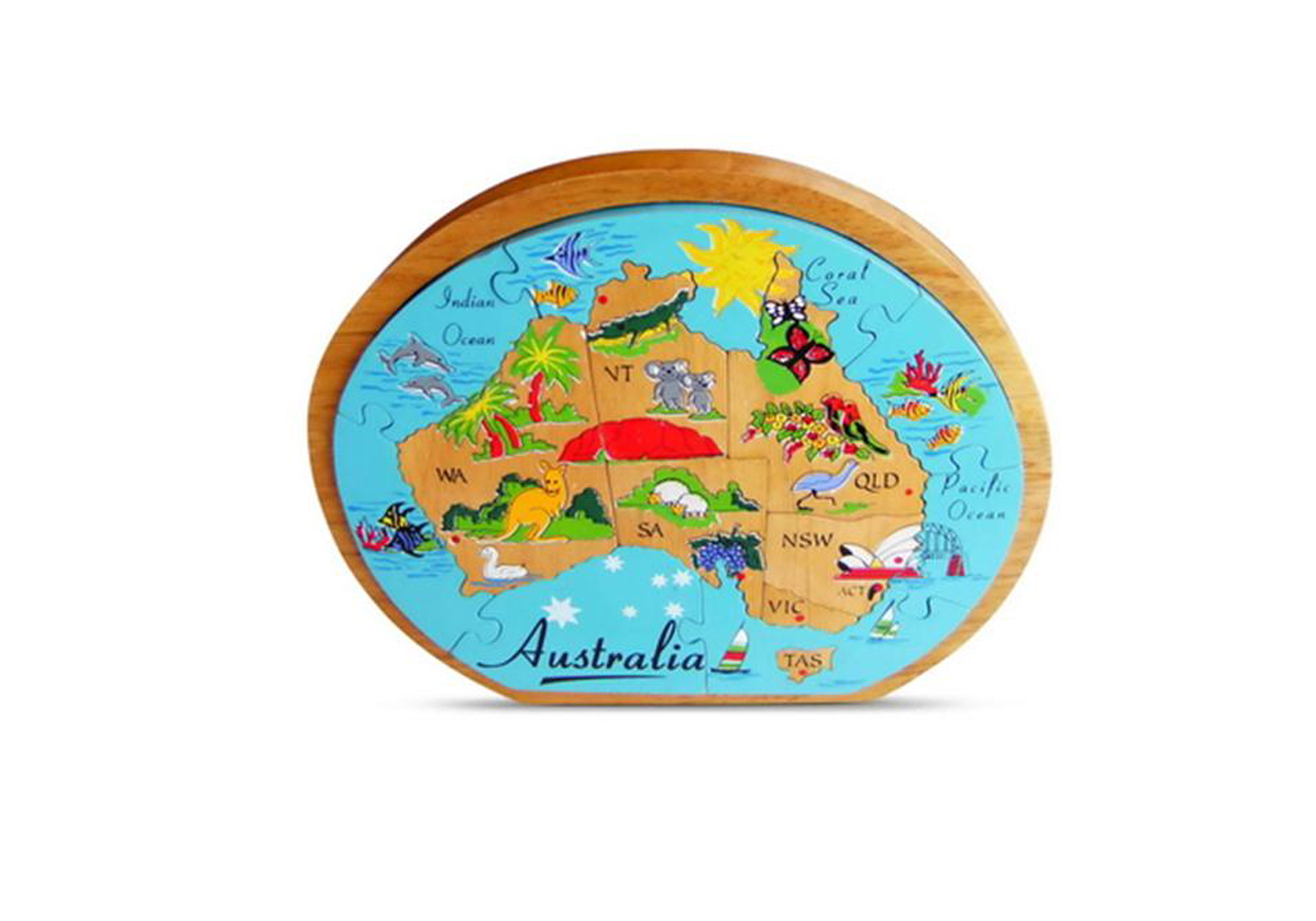 Enjoy Learning Us Map Puzzle%0A Map of Australia Puzzle