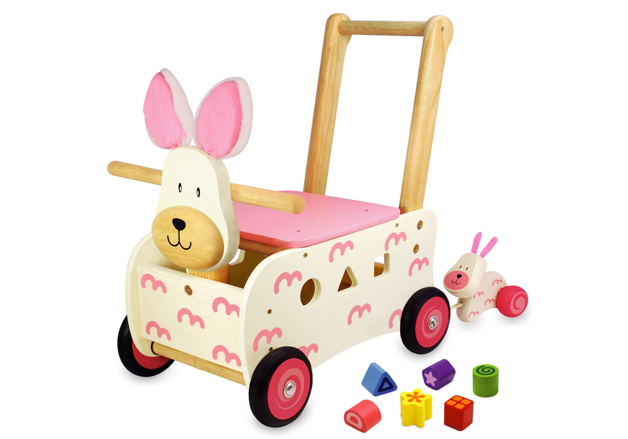 Walk and Ride Bunny Sorter Wooden