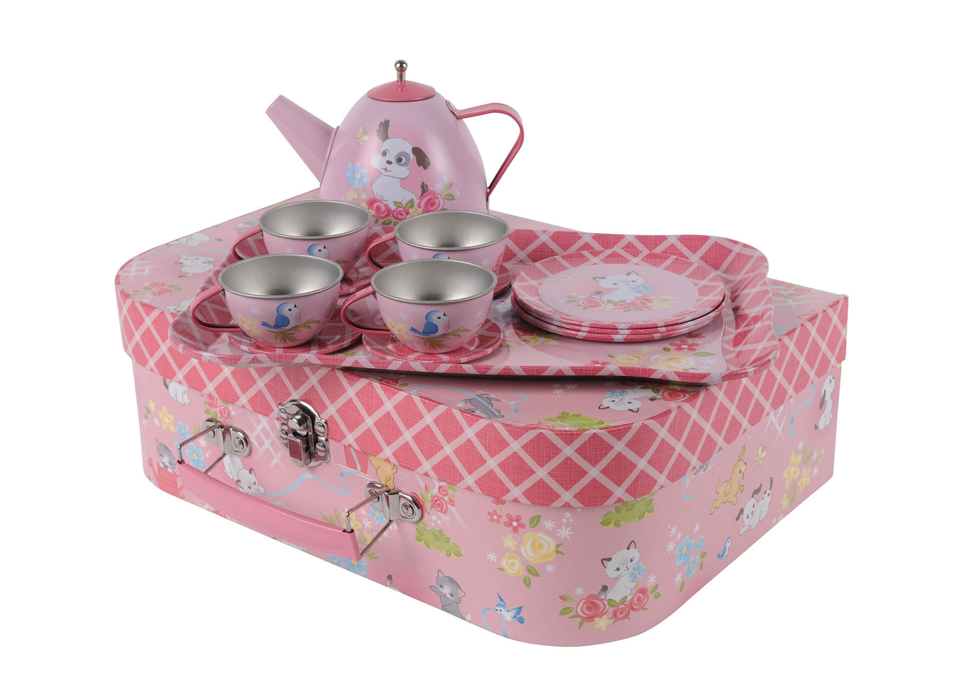 Vintage Tea Set - Kittens and Puppies