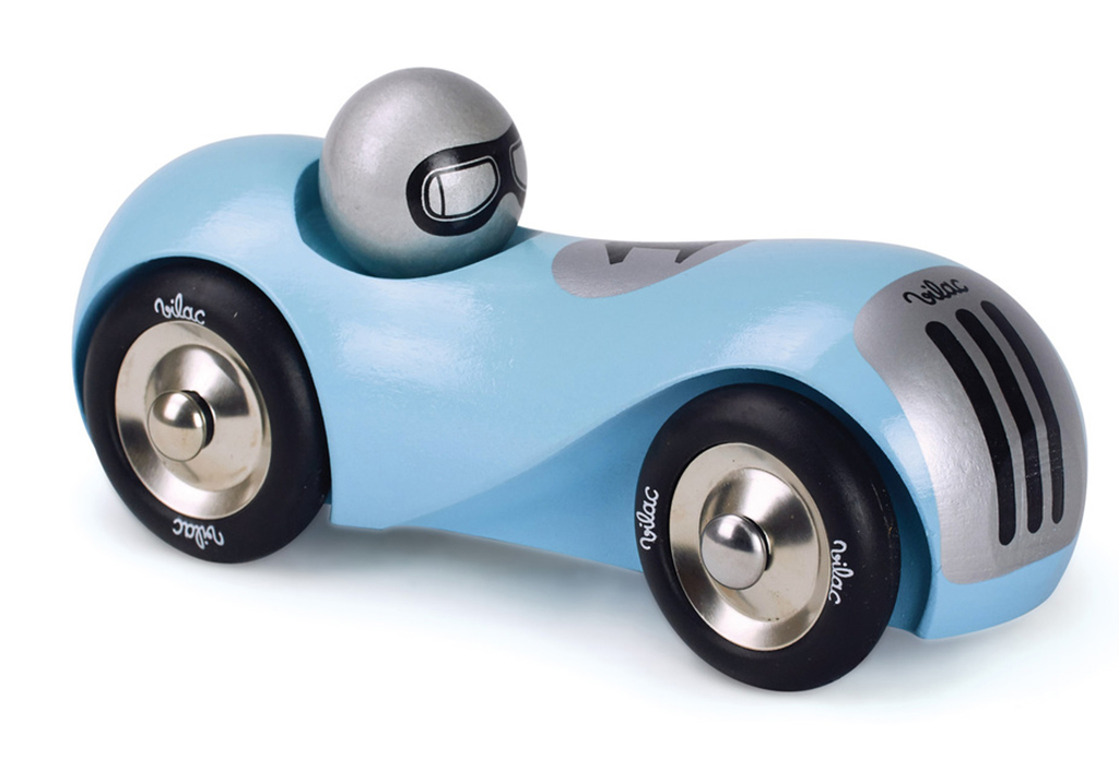 Vilac Turquoise Streamline Wooden Toy Racing Car