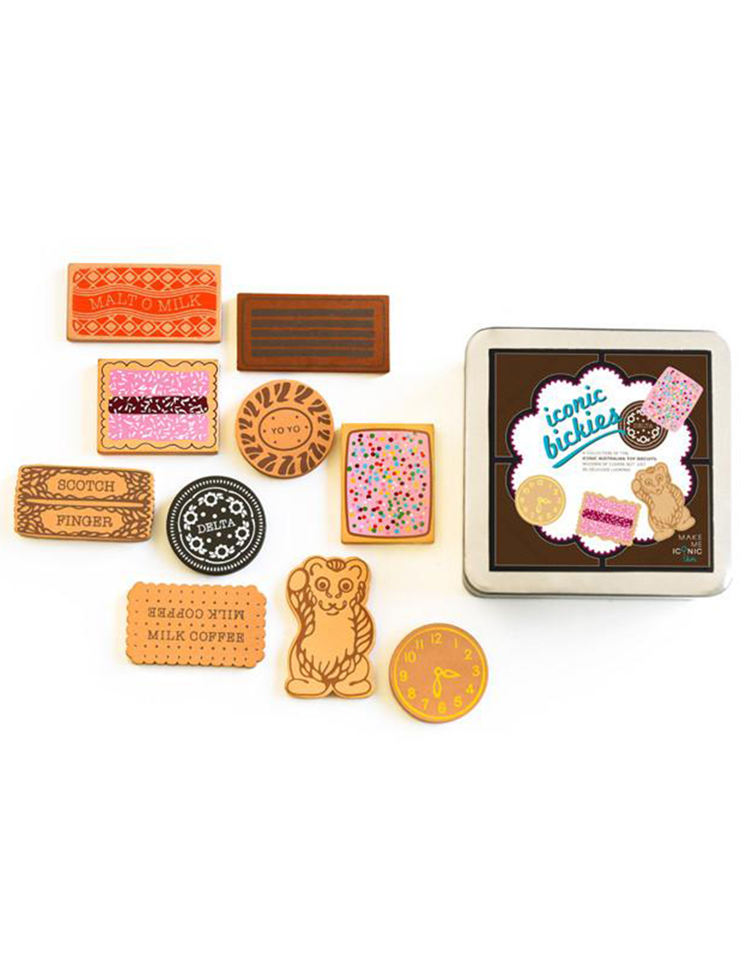 Wooden Iconic Bickies