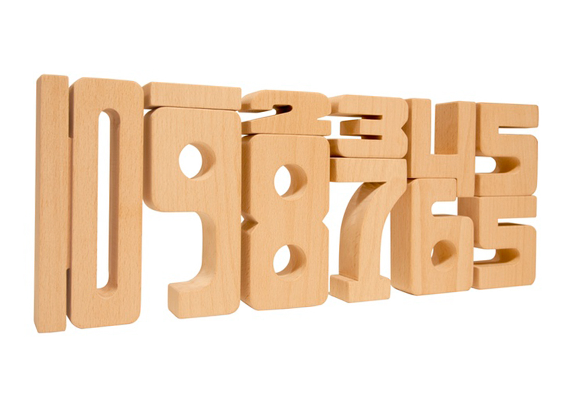 Sumblox Wooden Number Blocks