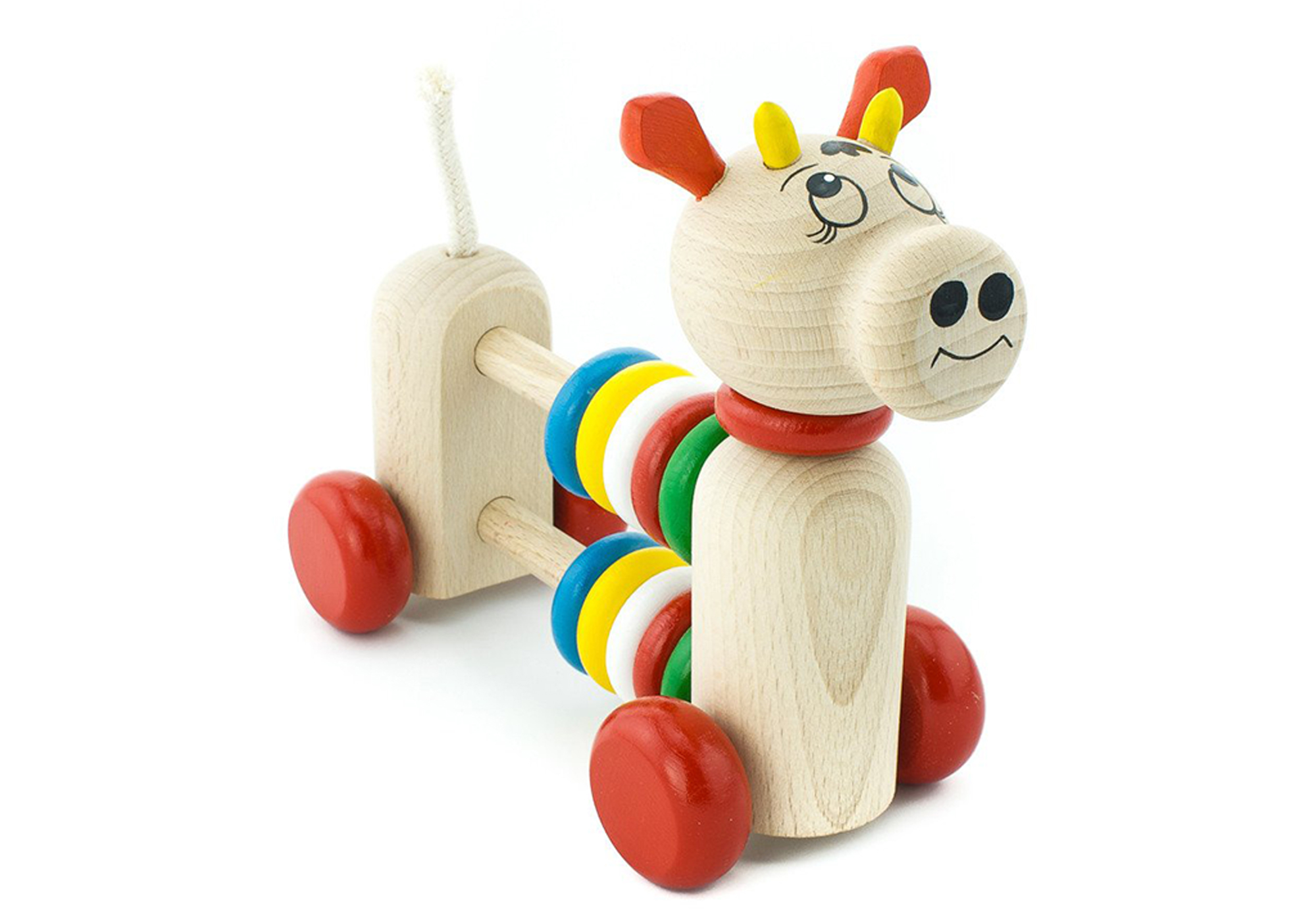 Wooden Cow Counting Beads