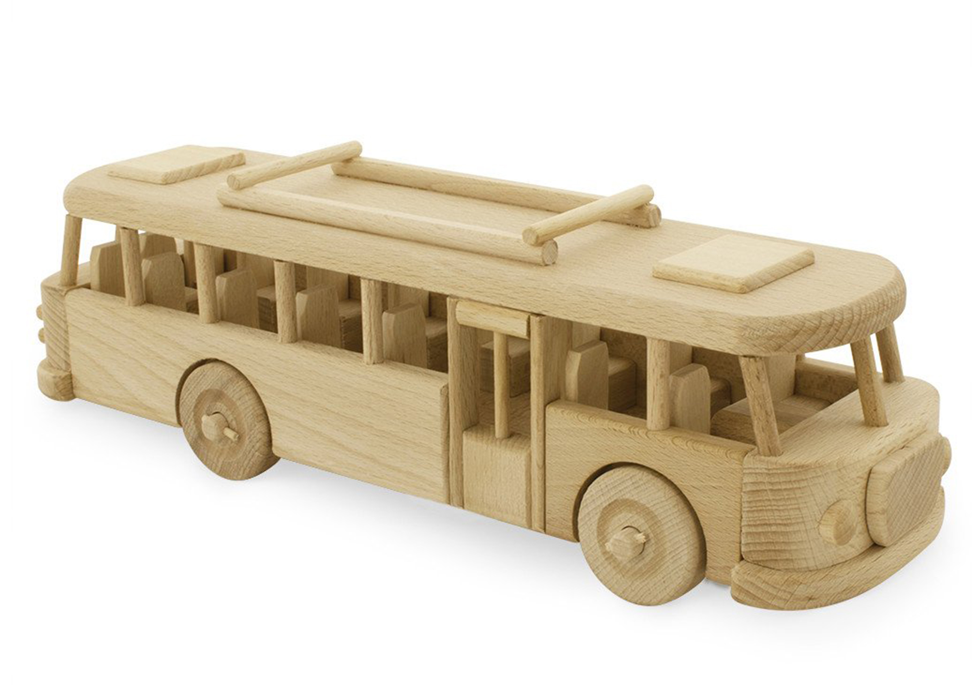 Wooden Retro Bus - Martin